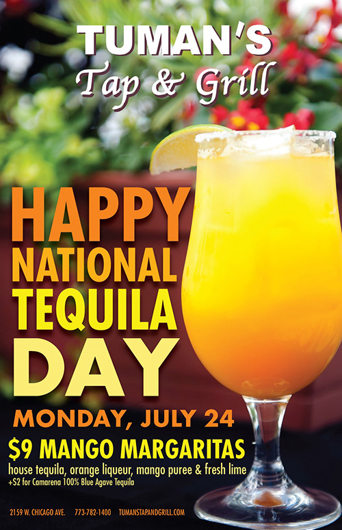 Tequila Day at Tuman's - July 23rd